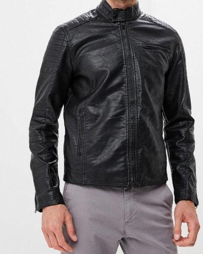 Кожаная куртка черная осенняя Colin's