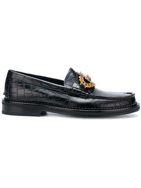 Лоферы черные итальянские Versace