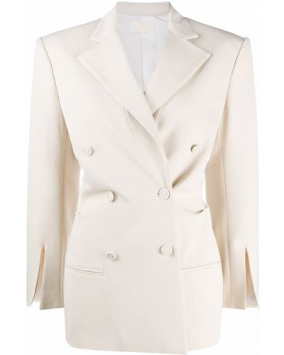 Удлиненный пиджак двубортный с воротником на пуговицах Sara Battaglia