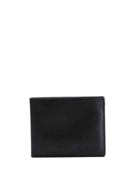 Черный кожаный кошелек прямоугольный Diesel