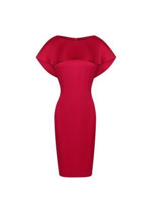 Шелковое платье - красное St. John