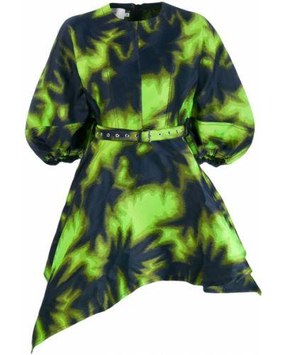 Платье с поясом для полных зеленый Marques'almeida