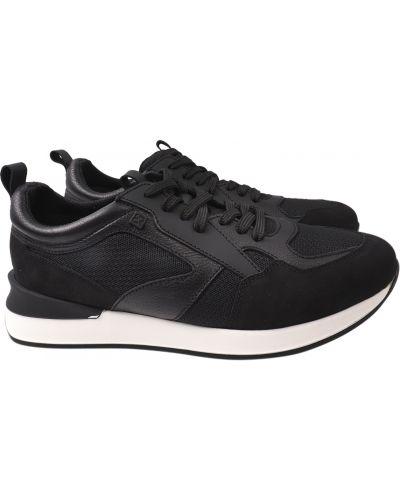 Кожаные кроссовки - черные Bertoni
