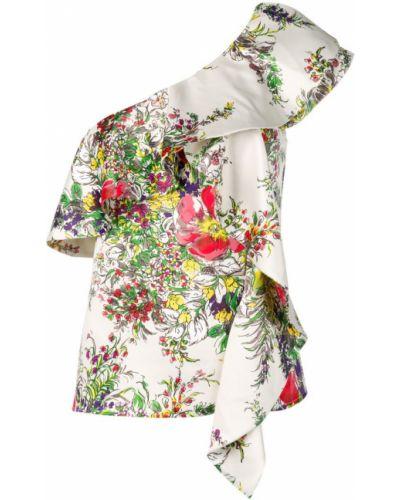Блузка свободного кроя с принтом Blumarine