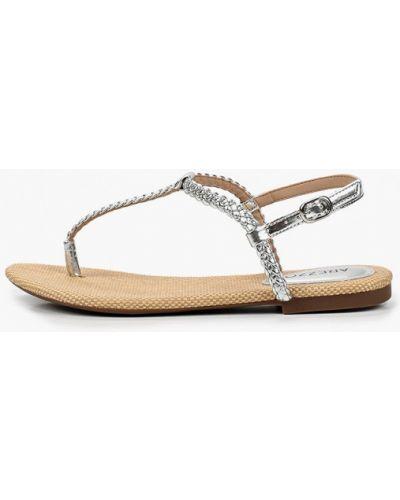 Серебряные кожаные сандалии Arezzo