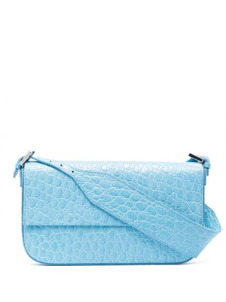 Кожаная сумка - синяя By Far