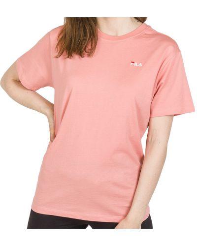 Bawełna różowy bawełna t-shirt Fila