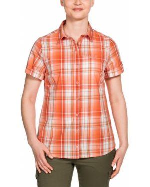 Рубашка с коротким рукавом в клетку теплая Jack Wolfskin