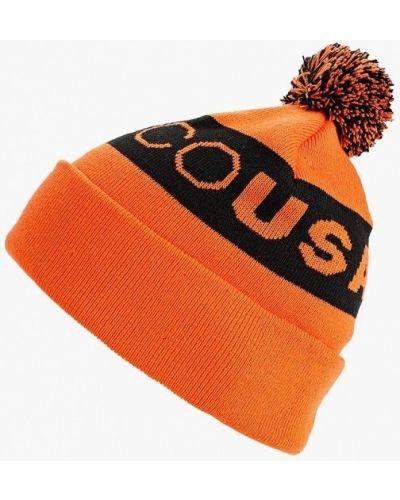 Оранжевая шапка осенняя Dc Shoes