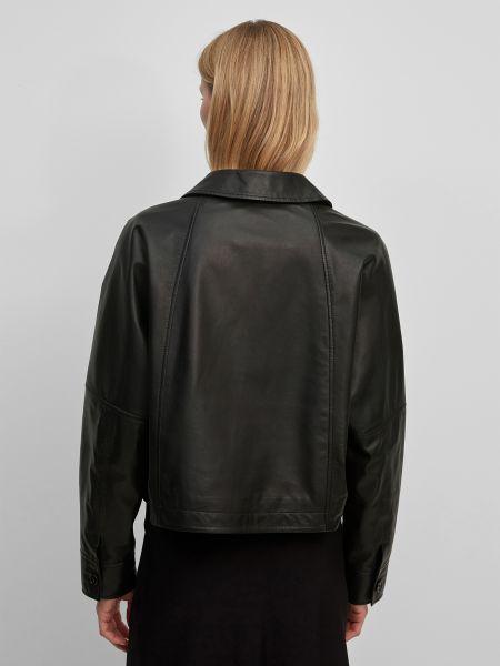 Кожаная куртка оверсайз - черная Marc O'polo