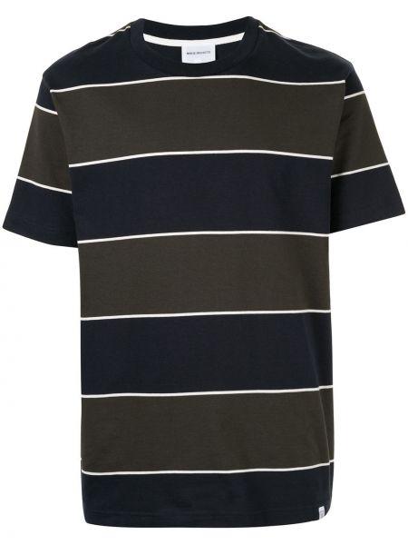 Koszula krótkie z krótkim rękawem z paskami zielona Norse Projects
