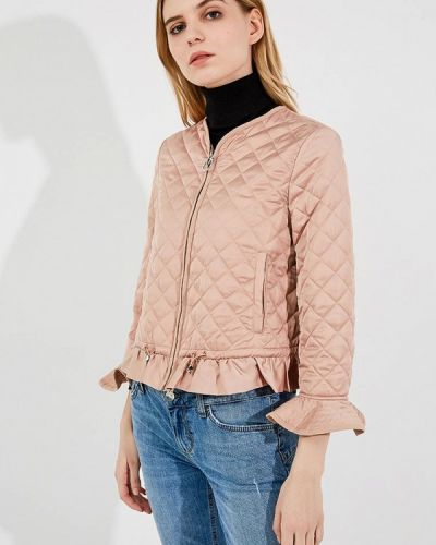 Бежевая утепленная куртка Pinko