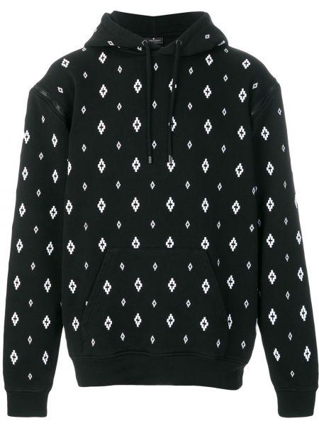 Z rękawami czarny bluza z kapturem Marcelo Burlon County Of Milan