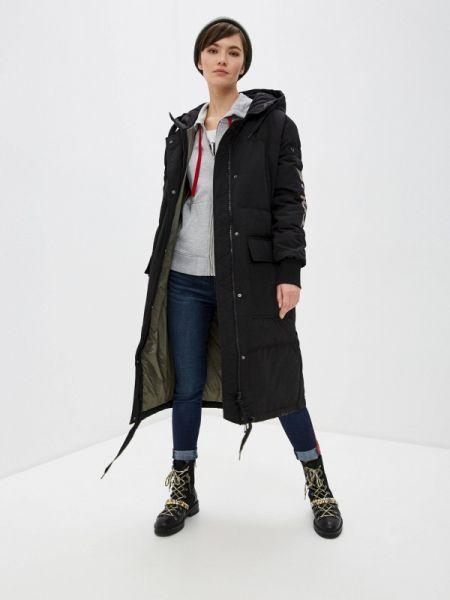 Черная зимняя куртка True Religion