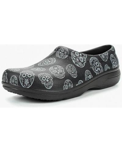Черные сабо на каблуке Crocs