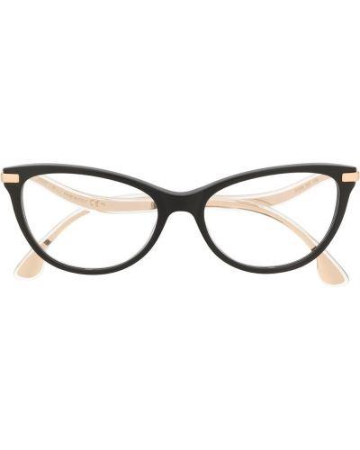 Золотистые черные солнцезащитные очки Jimmy Choo Eyewear