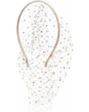 Шелковый белый ободок Gigi Burris Millinery