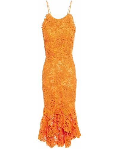 Кружевное платье - оранжевое Maria Lucia Hohan
