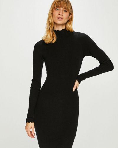 Платье мини с длинными рукавами - черное Review