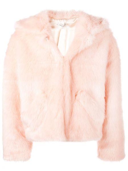 Różowa długa kurtka z długimi rękawami Landlord