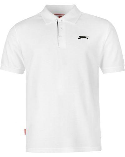 T-shirt bawełniana - biała Slazenger