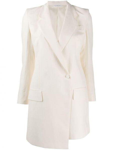 Однобортный белый пиджак с карманами Tonello