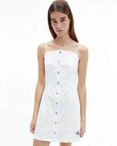 Джинсовое сарафан - белое Calvin Klein Jeans