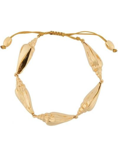 Золотистый желтый золотой браслет металлический Tohum