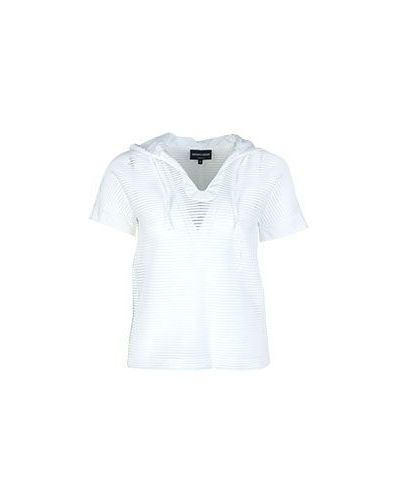 Блузка прозрачная с капюшоном Emporio Armani