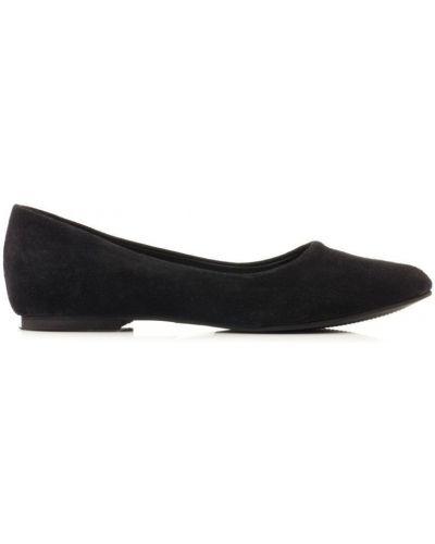 Балетки на каблуке черные Braska