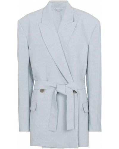 Ватный льняной синий пиджак Acne Studios