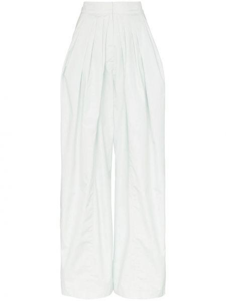 Szerokie spodnie z wysokim stanem z kieszeniami Vika Gazinskaya