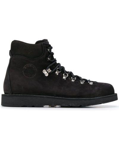 Черные сапоги на шнуровке Diemme