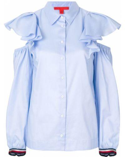 Классическая рубашка с оборками с длинным рукавом Tommy Hilfiger