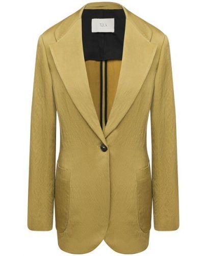 Пиджак на подкладке - зеленый Tela