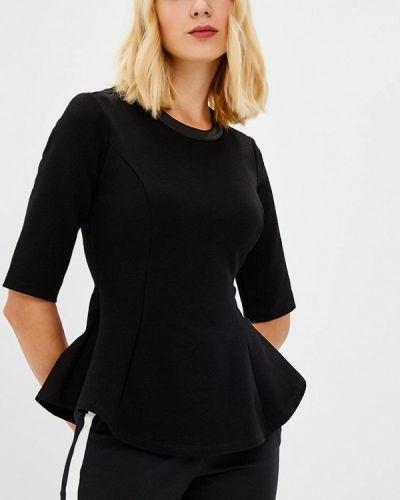 Черная блузка с коротким рукавом Adl