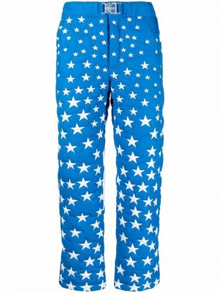 Niebieskie spodnie z klamrą Erl