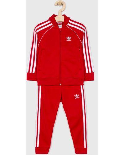 Красный спортивный костюм Adidas Originals