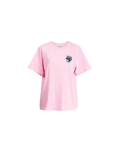 Розовая хлопковая футболка Essentiel