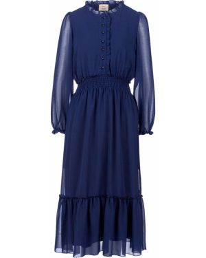 Платье синее расклешенное Vera Moni