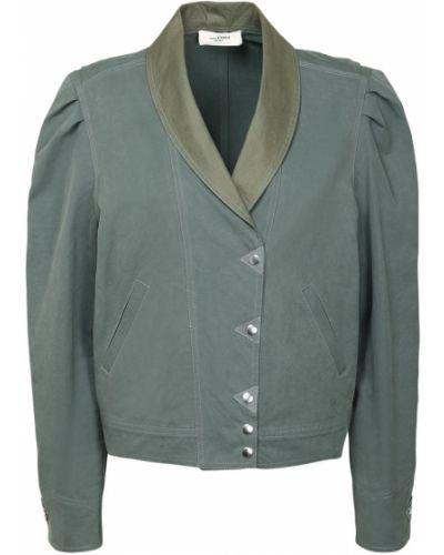 Зеленая ватная куртка с карманами Isabel Marant étoile