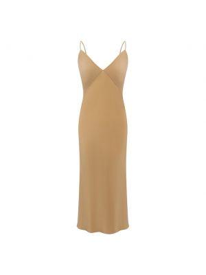 Шелковое платье - золотое Olivia Von Halle