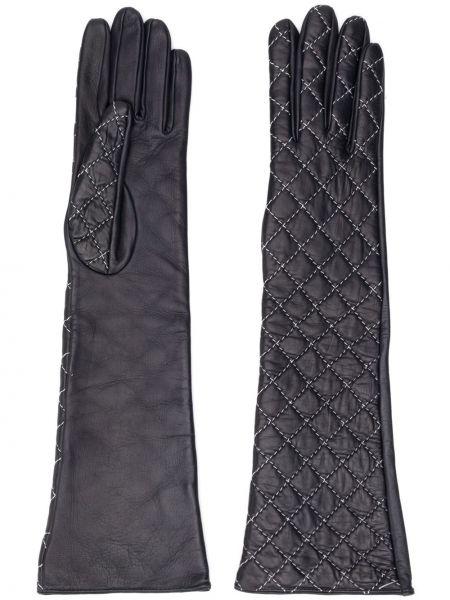 Кожаные черные перчатки для полных Manokhi