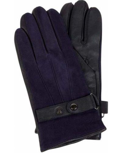 Rękawiczki skorzane - niebieskie Joop! Collection