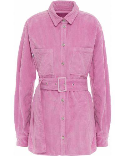 Różowa koszula bawełniana Msgm