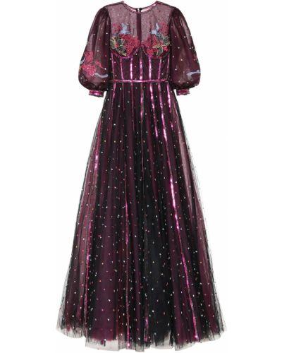 Вечернее платье из фатина с пайетками Costarellos