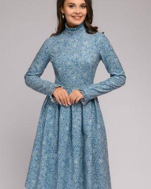 Платье вельветовое со складками 1001 Dress