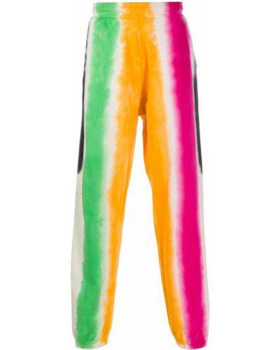 Оранжевые хлопковые спортивные брюки с карманами Chinatown Market