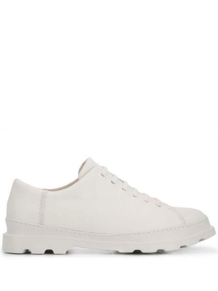 Кожаные белые броги на шнуровке Camper