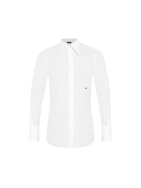 Приталенная рубашка - белая Kiton